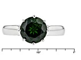 Green Chrome Diopside Sterling Silver Solitaire Ring 2.62ct