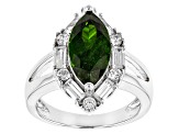 Green Chrome Diopside Sterling Silver Ring 3.79ctw