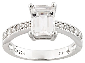 White Danburite Sterling Silver Ring 1.65ctw