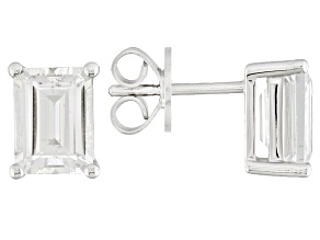 White Danburite Sterling Silver Stud Earrings 2.64ctw