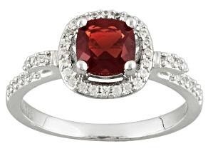 Red Labradorite Sterling Silver Ring .92ctw