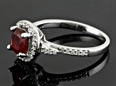 Red Labradorite Sterling Silver Ring .92ctw