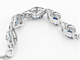 Blue Lab Created Spinel Sterling Silver Bracelet 3.99ctw