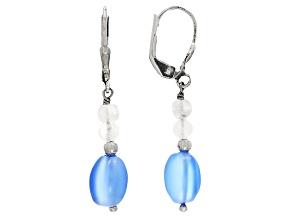 Blue Chalcedony Sterling Silver Dangle Earrings