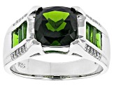 Green Chrome Diopside Sterling Silver Ring 2.65ctw