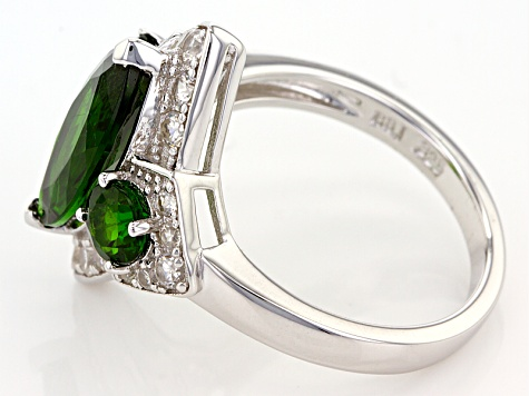 Green Chrome Diopside Sterling Silver Ring 4.49ctw