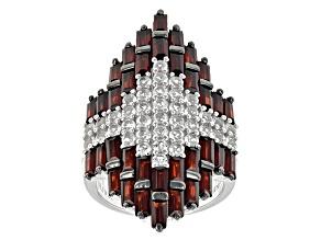 Red Garnet Sterling Silver Ring 6.64ctw