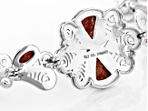 Red Sponge Coral Sterling Silver Adjustable Bracelet
