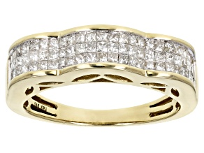 Diamond .75ctw Princess Cut 14k Yellow Gold Band