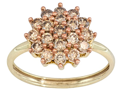 Jtv Diamond Rings >> Champagne Diamond 1 00ctw Round 10k Yellow Gold Ring