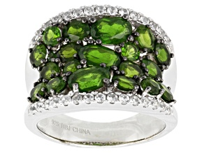 Green Russian Chrome Diopside Sterling Silver Ring 4.67ctw