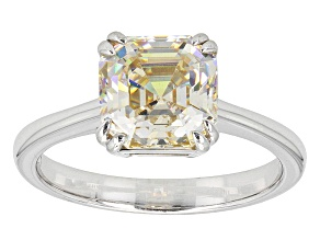 Fabulite Strontium Titanate Silver Ring 3.40ct