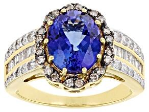 Blue Tanzanite 14k Yellow Gold Ring 2.90ctw