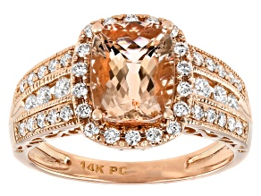 Pink Morganite 14K Rose Gold Ring 2.19ctw