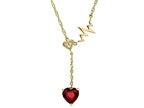 Red Mahaleo(R) Ruby 10K Yellow Gold Necklace 1.03ctw