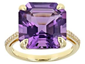 Lavender Amethyst 10K Yellow Gold Ring 6.08ctw