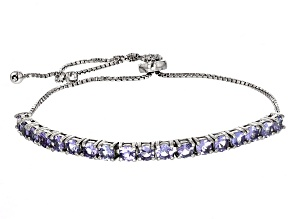 Blue Tanzanite Sterling Silver Bracelet 1.80ctw