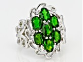 Green Russian Chrome Diopside Sterling Silver Ring 3.07ctw