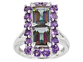 Mystic® Topaz Sterling Silver Ring 5.04ctw