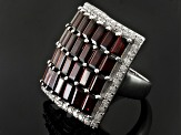 Red Garnet Sterling Silver Ring 11.41ctw