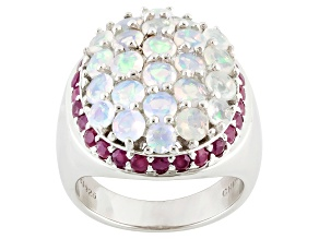 Ethiopian Opal Sterling Silver Ring 2.65ctw