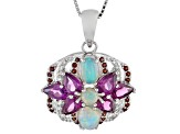 Ethiopian Opal Sterling Silver Pendant With Chain 4.16ctw