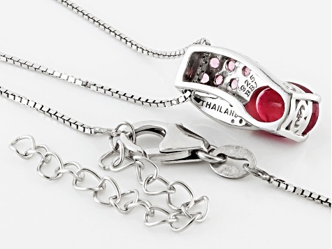 Mahaleo Ruby Sterling Silver Pendant With Chain 1.68ctw