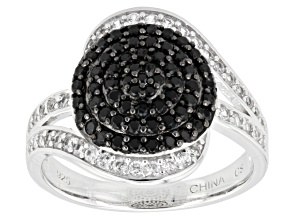 Black Spinel Sterling Silver Ring .79ctw