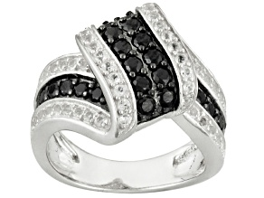 Black Spinel Sterling Silver Ring 1.09ctw