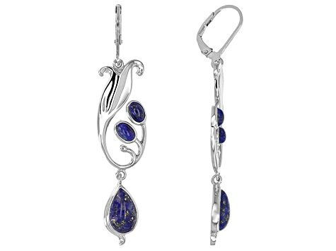 Blue Lapis Sterling Silver Earrings