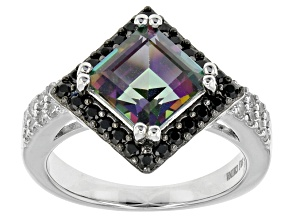 Green Mystic Topaz® Sterling Silver Ring 3.38ctw