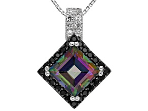 Green Mystic Topaz® Sterling Silver Pendant With Chain 3.23ctw