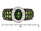 Green Russian Chrome Diopside Sterling Silver Ring 1.48ctw