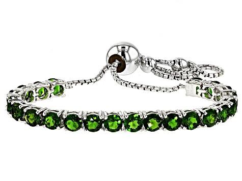 Green Russian Chrome Diopside Sterling Silver Adjule Bracelet 5 42ctw