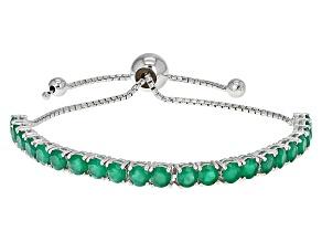 Green Onyx Sterling Silver Adjustable Bracelet