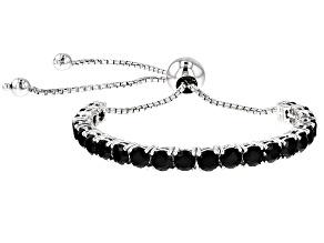 Black Spinel Sterling Silver Bracelet 7.04ctw