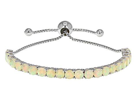 Ethiopian Opal Sterling Silver Adjule Bracelet 3 11ctw