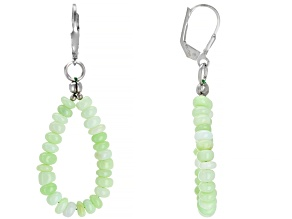 Green opal sterling silver earrings