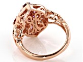 Pink garnet 18k rose gold over sterling silver ring 1.46ctw