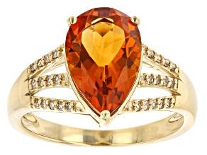 Orange Citrine 10k Yellow Gold Ring 2.35ctw