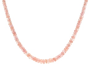 Peach Cor-De-Rosa Morganite(TM) 14K Yellow Gold Necklace
