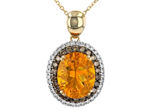 Yellow Fire Opal 14K Yellow Gold Pendant With Chain 0.45ctw