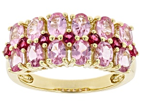 Pink Spinel 10K Yellow Gold Ring 2.38ctw