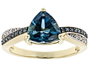 London Blue Topaz 10K Yellow Gold Ring 2.15ctw