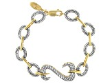 White Cubic Zirconia 14k Yellow Gold Over Sterling Silver Bracelet 4.20ctw (2.44ctw DEW)