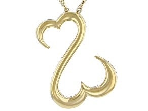 14k Yellow Gold Over Sterling Silver Pendant With Chain