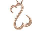 14k Rose Gold Over Sterling Silver Pendant With Chain