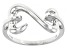 Rhodium Over Sterling Silver Open Design Ring