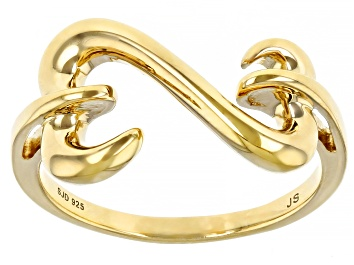 Picture of 14k Yellow Gold Over Sterling Silver Open Design Ring