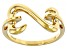 14k Yellow Gold Over Sterling Silver Open Design Ring